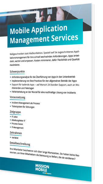 Unser Whitepaper zum Thema Mobile Application Management Service