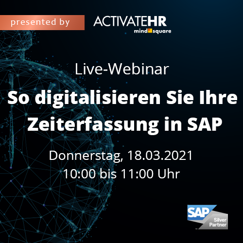 Live-Webinar: So digitalisieren Sie Ihre Zeiterfassung in SAP