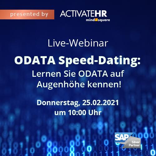 """Live-Webinar: """"OData Speed-Dating: Lernen Sie OData auf Augenhöhe kennen!"""""""
