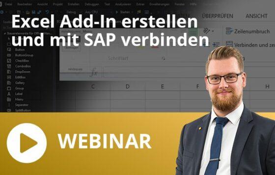 Excel Add-In erstellen und mit SAP verbinden