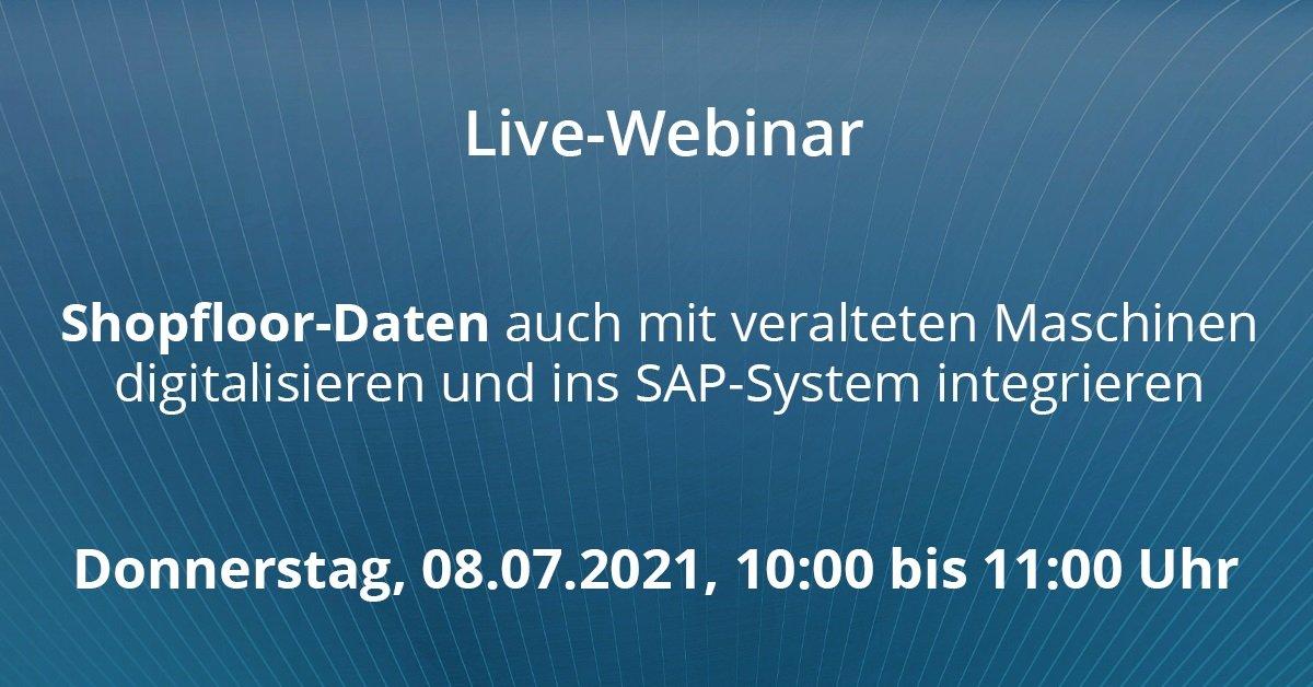 Shopfloor-Daten auch mit veralteten Maschinen digitalisieren und ins SAP-System integrieren